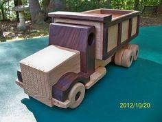 Wooden Dump Truck Handmade toys Oak Walnut  Heairloom by mikebtoys, $74.95