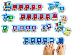 Sequencing Trains 1-100 at Lakeshore Learning