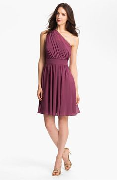 Suzi Chin for Maggy Boutique One Shoulder Chiffon Dress available at #Nordstrom