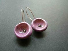 raku ceramic earring sterling silver socket