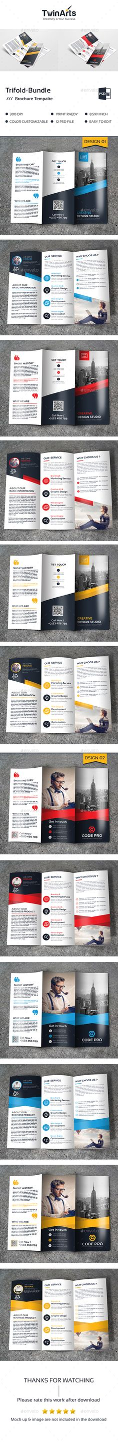Trifold Bundle_2 in 1 - Brochures Print Templates