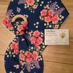 Fabulously floral bib and teether sets by EdieBees on Etsy