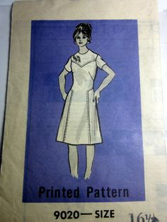 Lovely circa: 1960s Mail Order Pattern by Workbasket. Cut/Complete. The transfer for the flowers is not in the envelope. The original mailing