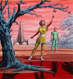 Emshwiller, Expedition to Eden 1954 (artwork) Anton, Pulp Fiction, Science Fiction, Ufo, Retro Design, Design Art, Utopia Dystopia, Comic, Pulp Magazine