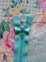 Installing a zipper. This is my favorite zipper tutorial.