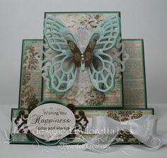 Beautiful handmade butterfly card