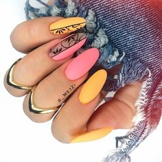 nail art Matte blue and coral nails 62 Wedding Ideas For Brides: 5 Ways To Capture Your Wedding Mome Love Nails, Pretty Nails, Fun Nails, Coral Nails, Nagellack Trends, Shellac Nails, Matte Nails, Acrylic Nails, Manicure E Pedicure