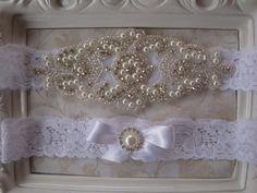 Wedding Garter  Bridal Garter  Pearl and by BellaFleurBridal, $35.00