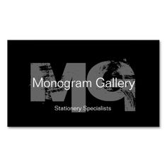 Bold Monogram Customizable Business Card. Make your own business card with this great design. All you need is to add your info to this template. Click the image to try it out!