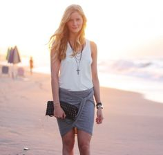 The no sewing required DIY draped skirt