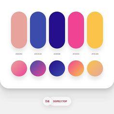 Dopely Colors #114 E8A49C • 3C4CAD • 240E8B • F04393 • F9C449 - Gradients Setting Rotation: 147° - - - - - - - - - - - - - #colorscheme…