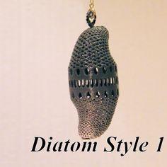 3D printed Diatom style #1, jean-fabric