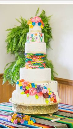My Mexican themed wedding Was beautiful with this wedding cake from unforgettable wedding cakes in Marietta Georgia.
