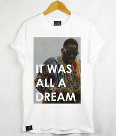 c5fa1c2d5359 1 OAK Biggie Smalls  It Was All A Dream  Vintage Hip Hop Rap Tee