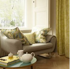 #southbank #collection #madetomeasure #interiors #yellow #green #contemporary www.ashley-interiors.co.uk