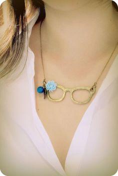 Eye Glasses Necklace $22.50
