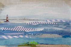 Karin Olah, original fine art paintings with fabric and mixed media | Small Works