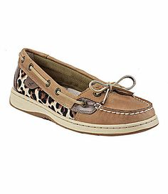i need some sperrys; these are on the top of the list.  Sperry TopSider Angelfish LeopardPrint Boat Shoes #Dillards