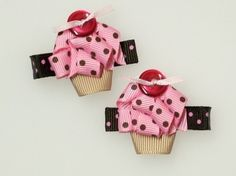 Cupcake hair clips- nieces