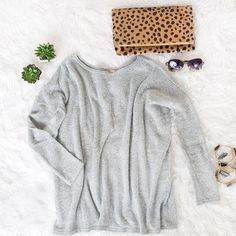 Our scrumptious-soft Aspen sweater is just the thing for midnight snuggles....and better yet, you can keep it on all day tomorrow and no one will know you're in your jammies.....plus it comes in 3 colors #getallthecolorspossible ❤️