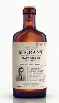 migrant whiskey bottle packaging design 1
