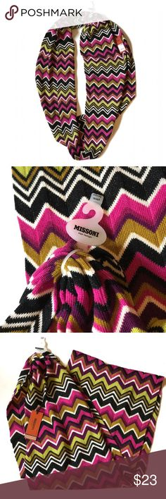 Missoni  NWT multi-color Missoni for Target infinity scarf   ☑️ No tears, holes, stains, fading or defects.   ☑️ I accept all reasonable offers!!  ☑️ As always, all items are from a smoke-free pet-free home.   ☑️ Thanks for shopping Reclaimed Treasure Resale. Missoni Accessories Scarves & Wraps