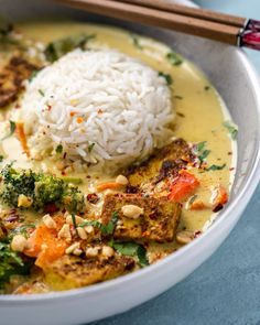 Curry Recipes, Veggie Recipes, Asian Recipes, Vegetarian Recipes, Cooking Recipes, Healthy Recipes, Vegan Dinner Recipes, Delicious Vegan Recipes, Peanut Curry
