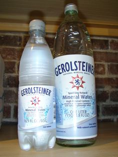 Gerolsteiner  Mineral Wasser    I call it Sprudel    awesome sparkling Mineral Water