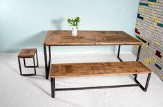 Esstische - Set bestehend aus Tisch MAASTRICHT & Bank B... - ein Designerstück von johanenlies bei DaWanda