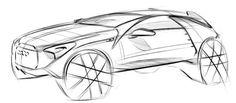 . Car Sketch, Cool Sketches, Transportation Design, Exterior Design, Automobile, Wheels, Cars, Hot, Anime