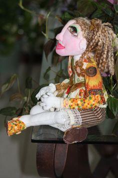 Handmade OOAK 16 Doll Sitting CrossLegged by sherimusum on Etsy, $100.00