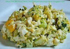 PotrawyRegionalne: SAŁATKA BROKUŁOWA Z RYŻEM Diet Recipes, Vegan Recipes, Appetisers, Fried Rice, Food Dishes, Potato Salad, Food And Drink, Healthy Eating, Lunch