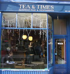 Tea and Times in Whitstable...the best place to go to get warm and have a hot chocolate after a cycle over