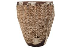 African Rope Drum Table