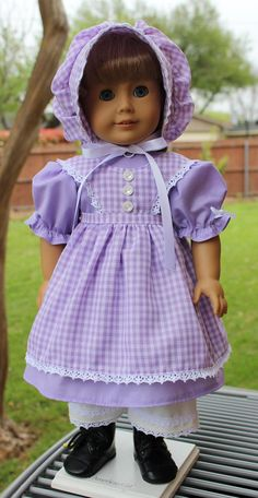 "18"" Doll Clothes Historical Prairie Style Outfit for Spring / Summer Fits American Girl Kirsten"