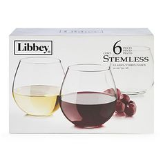 Libbey® Stemless Wine Glasses, 6-Piece Set at Big Lots.