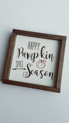 Spruce up your home or cafe with a rustic Fall sign that speaks to every pumpkin spice lover!