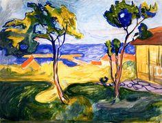 The Garden in Åsgårdstrand  Edvard Munch - 1904-1905