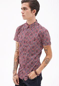 Kaleidoscopic Print Shirt $20   21 MEN - 2000060497