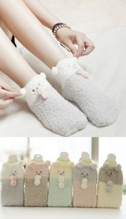 Soft bear pastel socks