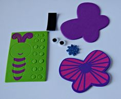 Having a butterfly themed party? Not sure what to do with all those kids? Let me help you! Each child receives a bag with everything they need to create their own butterfly magnet. These adorable butt