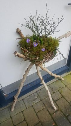 Deko Frühling Hauseingang - Sofia Hoffmann You are in the right place about Entrance wall Here we offer you the most beautiful pictures about the Entrance classi Spring Home, Spring Garden, Fleurs Diy, Spring Door Wreaths, Metal Garden Art, Garden Types, House Entrance, Spring Flowers, Garden Design