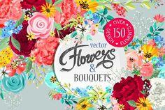 BIG Flowers SET by BON DESIGN boutique on @creativemarket