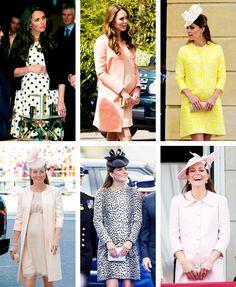 duchessofc:  Duchess of Cambridge pregnancy fashion