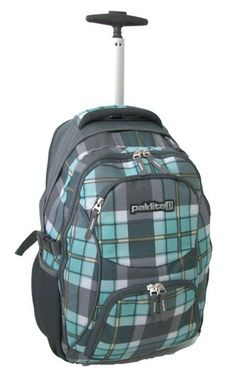 Paklite Scout Trolley Backpack | Checker Green  #backpack #laptopbag #bags #laptopbackpack #paklite