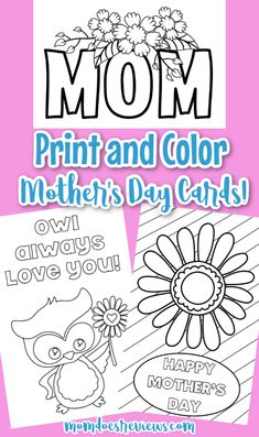 This year, kids won't be bringing home those cute Handmade Mother's Day cards. Check out these six Color Your Own Mother's Day Cards. Mothers Day Presents, Mothers Day Crafts, Happy Mothers Day, Gifts For Kids, Craft Activities For Kids, Activity Ideas, Crafts For Kids To Make, Kids Crafts, Kid Picks