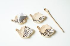 Tea Bag Rest Tea Bag Holder Tea Bag Plate Set of Four by bemika