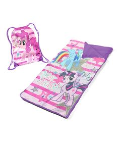 Loving this My Little Pony Sleeping Bag Set on #zulily! #zulilyfinds