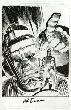 Big John Buscema in black and white.