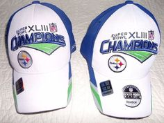 On-Field Reebok SUPER BOWL XLIII PITTSBURGH STEELERS Champions ONE SIZE  FITS ALL  Reebok  PittsburghSteelers e234df6c0